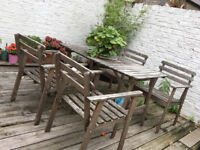 Table and chairs for the garden- wood
