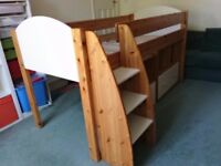 Stompa mid height sleeper bed