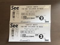 One adult and one child tickets for children in need carfest north.