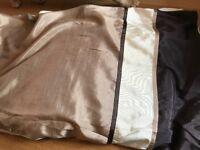 Gold/cream king size duvet cover set.