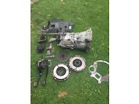 Bmw e46 5 speed getrag gearbox conversion clutch flywheel pedals mount fluid line interior trim