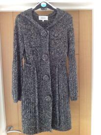Ladies knee length knitted coat