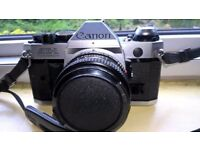 Canon AE1 Program SLR Camera pack - included Canon FD Lenses - 28mm, 50mm and 70 - 210mm Macro lens