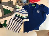 2 Hugo Boss polo shirts and 1 tracksuit top in small men's