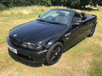 BMW 3 series Convertible with M3 wings M sport Long MOT great Driver 318 not 320 323 325 330 Px swap