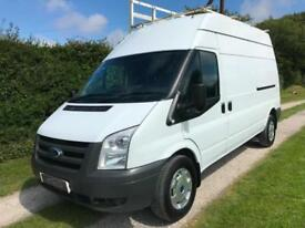 2011 FORD TRANSIT VAN 2.2TDCi 350 HIGH ROOF LWB GLAZIER VAN WITH RACK NO VAT