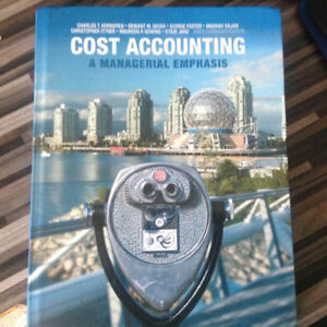 College textbook Cost Accounting ACC 2250,ACC 2251