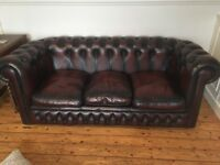 3 seater Oxblood Chesterfield Sofa