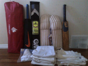Brand new Nike and Adidas cricket bats, cricket clothes,and more