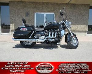 2015 triumph Rocket III Touring 1 LOCAL OWNER, ONLY 4K KMS, AS N