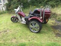 Three seater custom trike