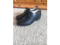 Clarks Black Leather School Shoes