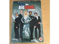 Big Bang Theory Seasons 1 - 4 on DVD, excellent condition