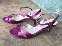 Purple kitten heel sandals, UK size 5