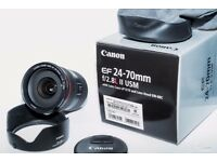 Mint condition Canon 24-70mm f2.8 series II