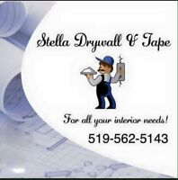 STELLA DRYWALL AND TAPE!