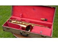 """""""KARL MEYER"""" SELMER STENCIL TENOR SAXOPHONE, circa 1940's/50's vintage sax in Selmer snakeskin case"""