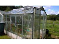 10ft x 6.5ft Glass and Aluminium Greenhouse