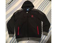 Adidas Black Zippy Top Size M - £20