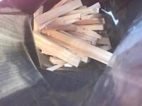 Kiln dried Kindling fire wood clean ready to burn aprx 5kg bags