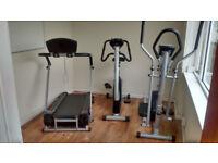 Gym Equipment, Running machine, cross trainer & static bike
