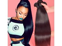 Virgin Peruvian/Brazilian Hair 14'16'18 (300g) plus free closure