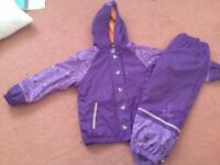 Girls waterproof jacket and trousers 4-6 years