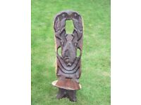Hand carved, hard wood chairs