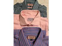 3 Thomas Pink Shirts