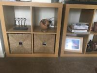 Wooden square shelving