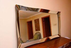 Mid Century Modern Era Leaning Floor / Vanity Mirror--HIGH END!