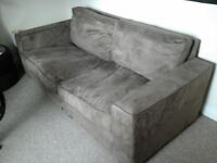 Large chocolate brown 3 seater sofa ...FINAL REDUCTION!!!!