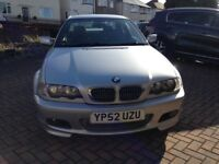 BMW 325 CI M Sport may take p/x car or bike