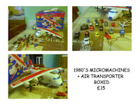MICRO MACHINES FROM THE 1980'S