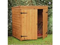 NEW 5x3 ft wooden storage shed by forest green. Flat packed ready to collect