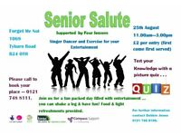 SENIOR SALUTE - Fun Event for the Older Person