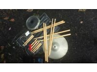 drumsticks and other drum bits