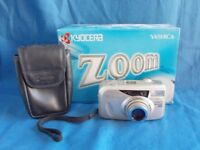 Yashica Zoomate 140 35mm AF Compact camera, box+pouch. In nice condition and tested working