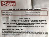 Alton Towers Resort Tickets