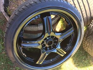 "19"" Aluminium rims and tires"