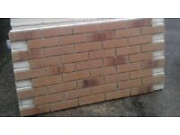 22 BRICK-TILE-PANELS NF687 colour Yellow, Red and Black Flamed,