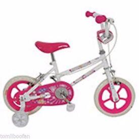 """Girls Sparkle & Glitz Daisy 12"""" Inch Bike with Stabilisers**New**"""