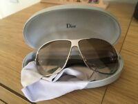 Orange silver glasses sunglasses