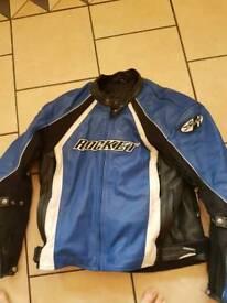 Joe rocket leather bike jacket