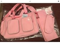 KATIE PIPER pink BRAND NEW with tags changing bag BELIEVE mybabiie