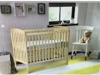 Kinder valley kie cot. Natural pine. White. With free mattress. Brand new