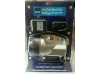 rechargeable halogen torch