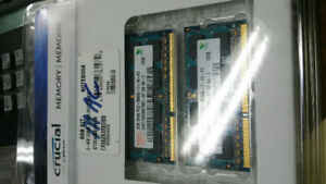 4GB, 2 x 2GB sticks PC3 - 8500S-7-10-F2 For Apple Mac laptop