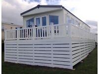 Crimdon Dene luxury 3 bedroom caravan for hire, sleeps 8 ppl. Right opposite clubhouse & amenities