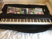 Yamaha P255 digital piano and case